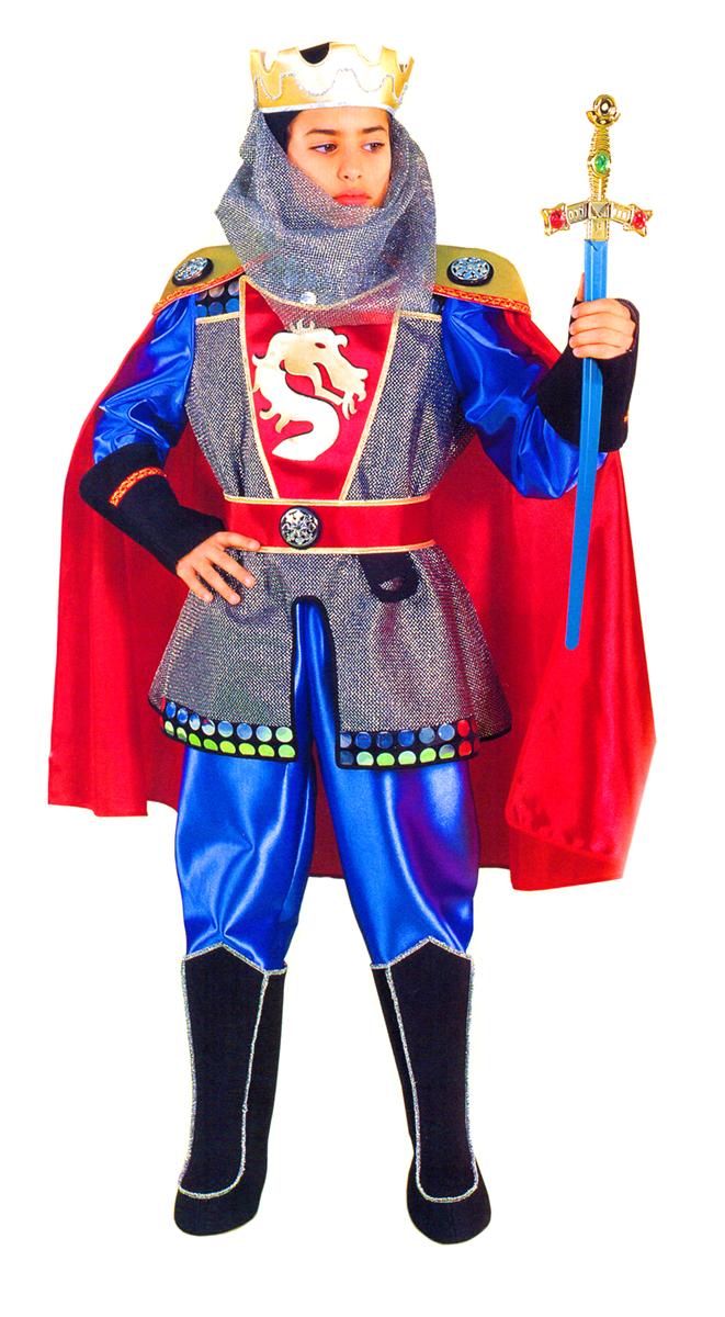 Rio Карнавальный костюм для мальчика Рыцарь цвет красный синий размер 32 (6-7 лет)107094Карнавальный костюм для праздничных и театрализованных мероприятий Ручная или деликатная стирка