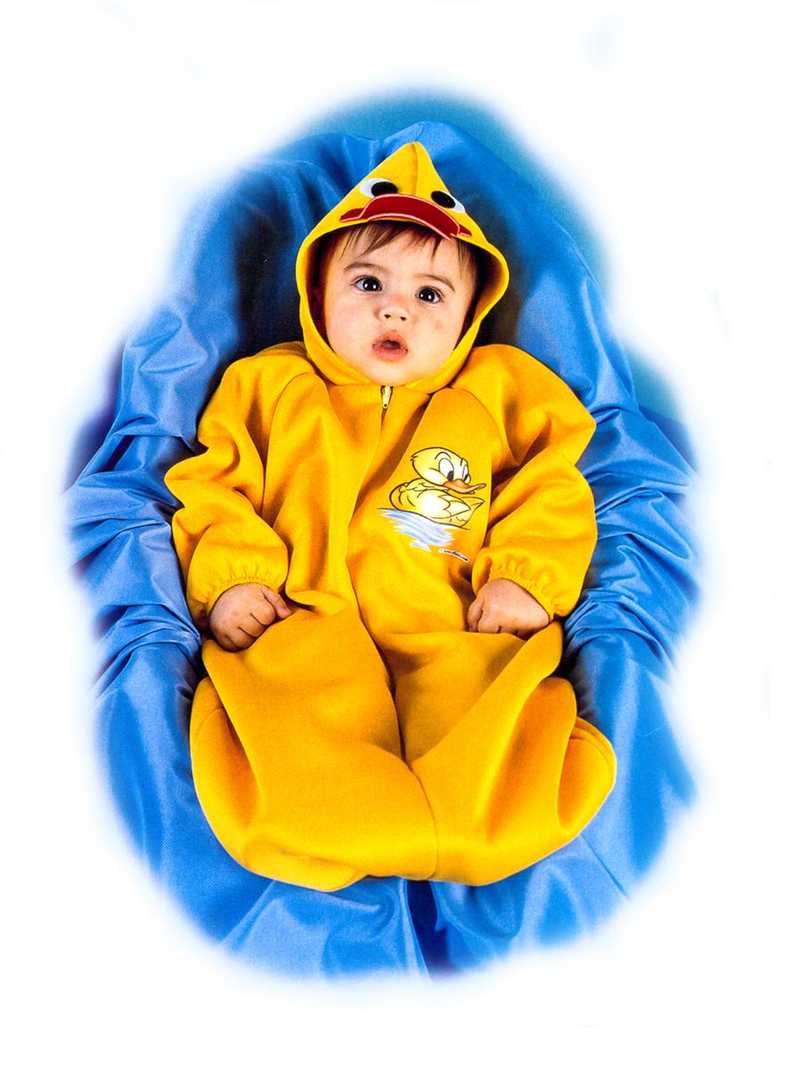 Rio Карнавальный костюм для девочки Утенок цвет желтый размер 24 (1-2 года)122204Карнавальный костюм для праздничных и театрализованных мероприятий Ручная или деликатная стирка
