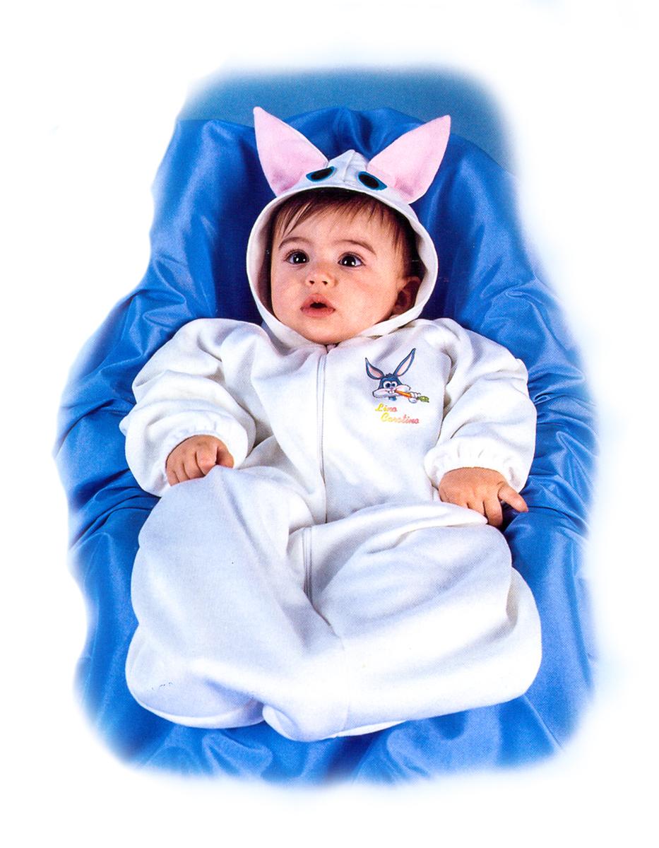 Rio Карнавальный костюм для девочки Зайчик цвет белый размер 24 (1-2 года)122206Карнавальный костюм для праздничных и театрализованных мероприятий Ручная или деликатная стирка