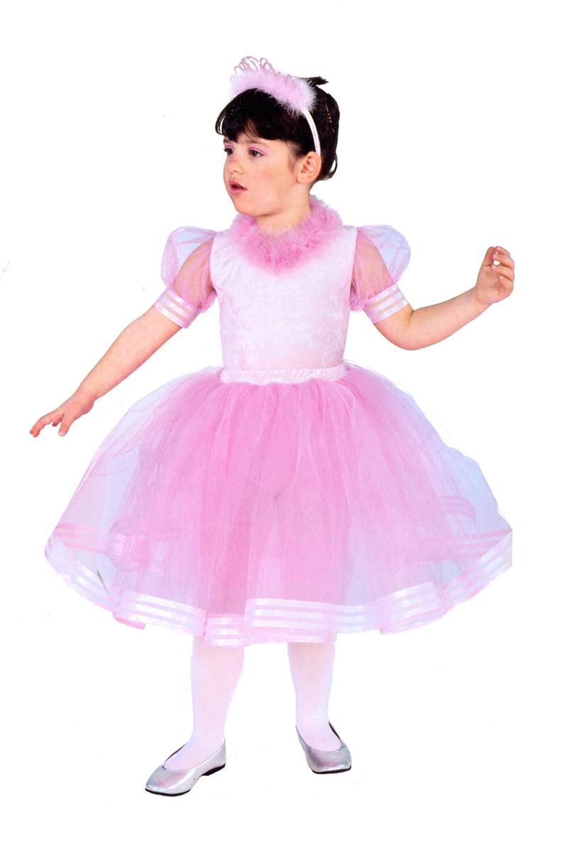 Rio Карнавальный костюм для девочки Балерина цвет розовый размер 32 (6-7 лет)106214Карнавальный костюм для праздничных и театрализованных мероприятий Ручная или деликатная стирка