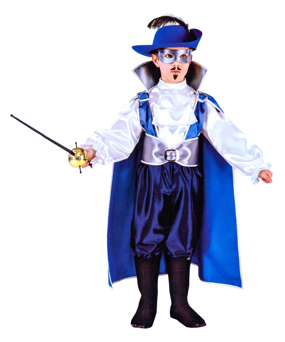 Rio Карнавальный костюм для мальчика Железная маска цвет синий белый размер 38 (9-10 лет)