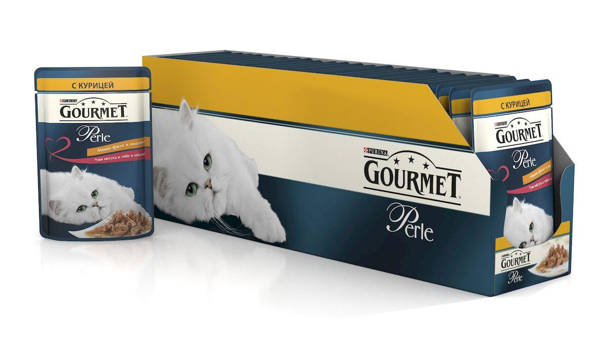 Консервы для кошек Gourmet Perle, мини-филе с курицей, 85 г, 24 шт54056_24