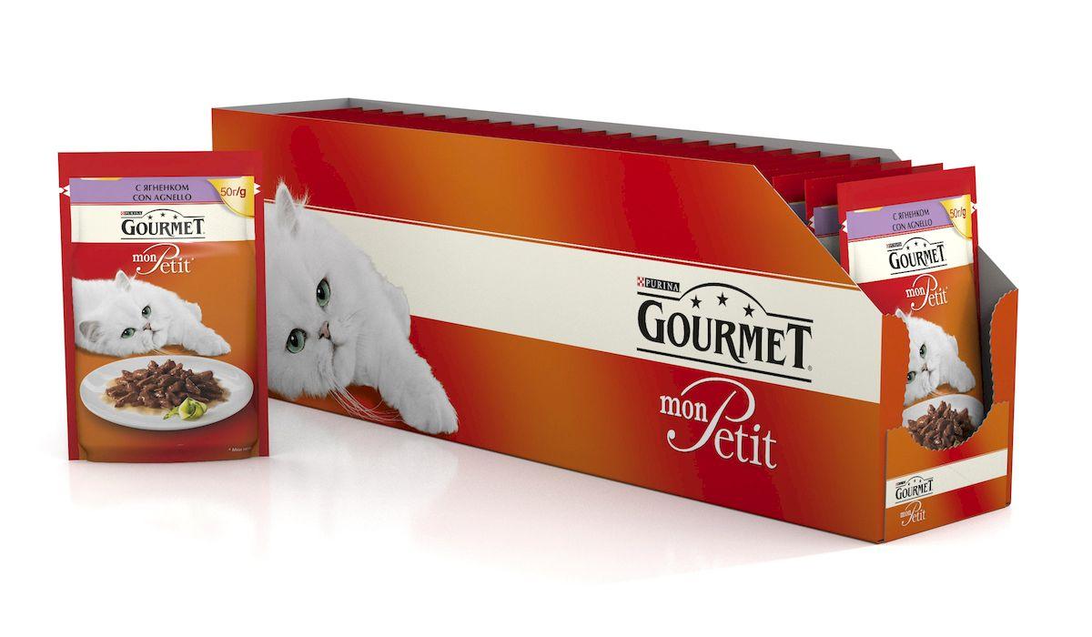 Консервы Gourmet Mon Petit, для взрослых кошек, с ягненком, 50 г, 24 шт60391_24