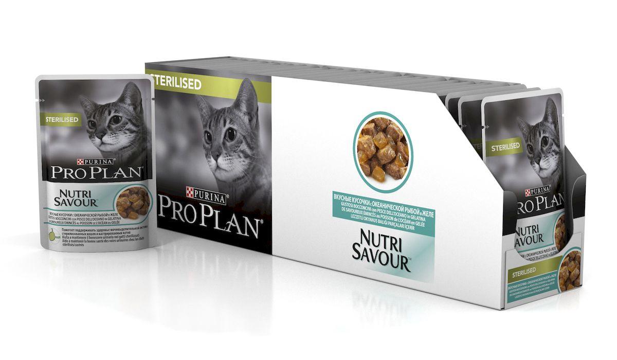 Консервы диетические Pro Plan Nutrisavour Adult для стерилизованных кошек, с океанической рыбой, 85 г, 24 шт61397_24