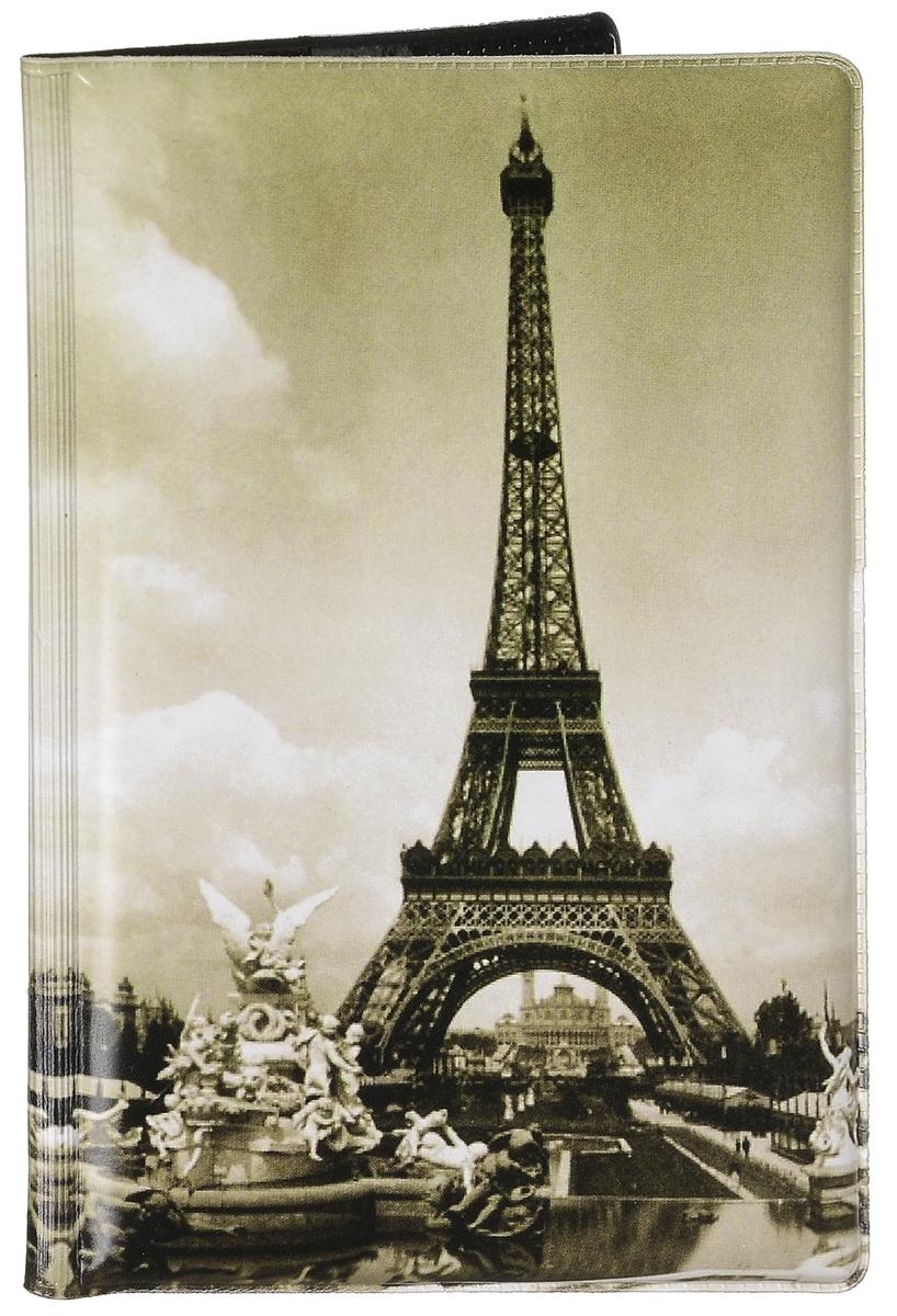 Обложка для паспорта Эврика Эйфелева башня, цвет: черно-белый. 9553495534Оригинальная обложка для паспорта Эврика понравится вам с первого взгляда. Она изготовлена из качественного ПВХ и оформлена оригинальным принтом. Внутри расположены прозрачные карманы для фиксации паспорта. Такая обложка не только поможет сохранить внешний вид вашего паспорта и защитить его от повреждений, но и станет стильным аксессуаром.