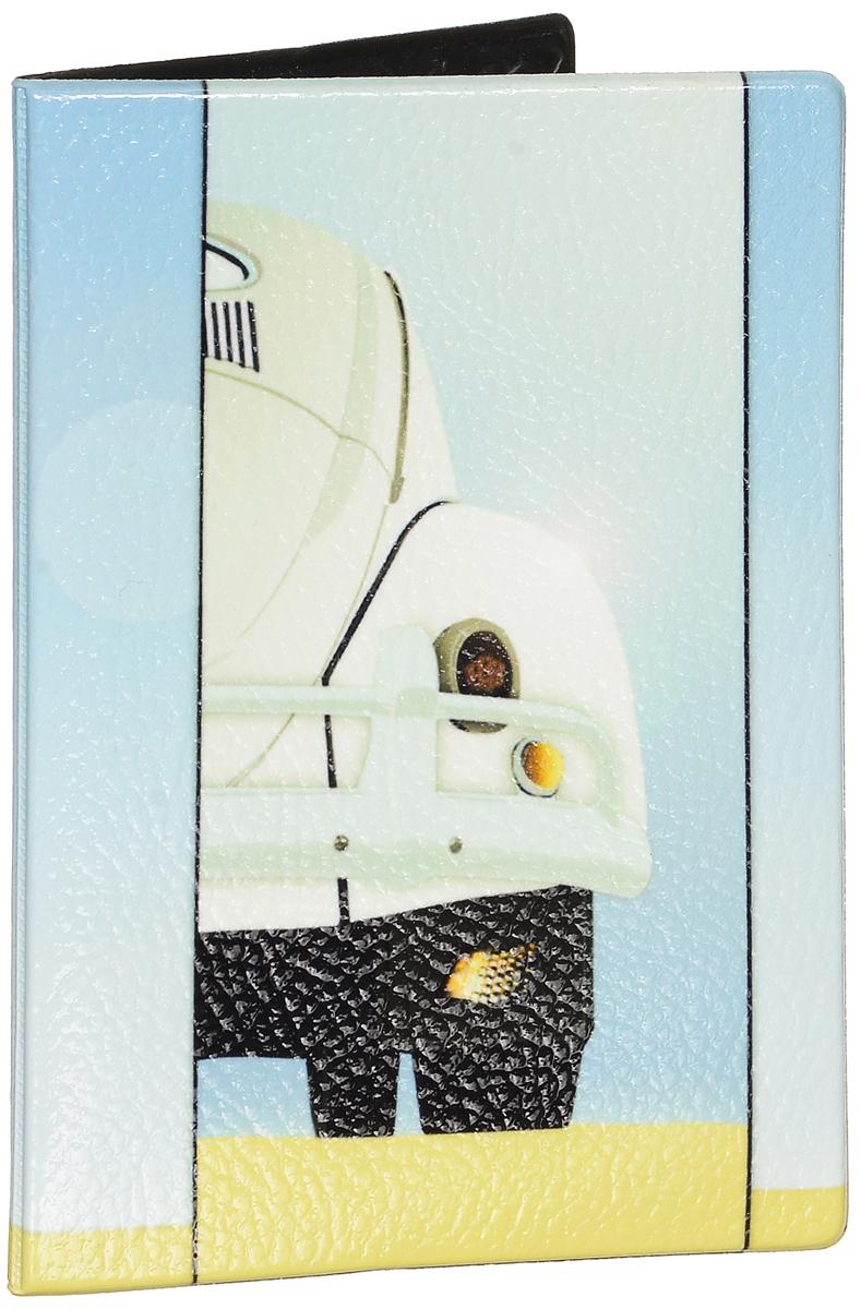 Обложка для паспорта Эврика Авто, цвет: бледно-голубой, бежевый. 9255692556Оригинальная обложка для паспорта Эврика понравится вам с первого взгляда. Она изготовлена из качественного ПВХ и оформлена оригинальным принтом. Внутри расположены прозрачные карманы для фиксации паспорта. Такая обложка не только поможет сохранить внешний вид вашего паспорта и защитить его от повреждений, но и станет стильным аксессуаром.