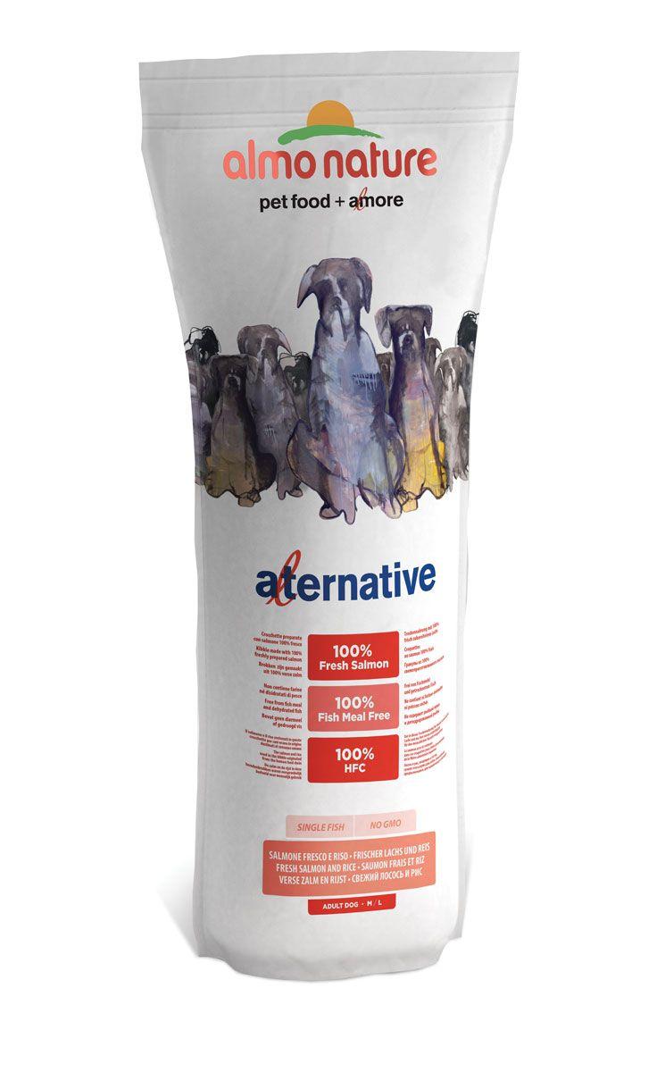Корм сухой Almo Nature Alternative для собак средних и крупных пород, с лососем и рисом, 9,5 кг10768Полнорационный корм Almo Nature Alternative рекомендован для собак средних и крупных пород. Монобелковый корм не содержит мясной муки и дегидрированного мяса. Рекомендован к употреблению собакам с чувствительным пищеварением. Не содержит глютена, ГМО, химических консервантов, красителей и усилителей вкуса. Состав: свежее мясо лосося - 50%, рис - 40%, картофельный протеин, жир животного происхождения, минералы, гидролизированный белок ягненка, цельные семена льна, лососевый жир, маннанолигосахариды - 0,1%, инулин из цикория - источник FOS (фруктоолигосахариды) - 0,1%. Витамины и микроэлементы: витамин A - 22000 IU/кг, витамин D3 - 1400 IU/кг, витамин E - 300 мг/ кг, витамин B1 - 12 мг/кг, витамин B2 - 14 мг/кг, кальций D-пантотенат - 20 мг/кг, витамин B6 - 12 мг/ кг, витамин B12 - 0,15 мг/кг, холин хлорид - 3185 мг/кг, ниацин - 25 мг/кг, биотин - 0,5 мг/кг, таурин - 1000 мг/кг, витамин K - 1 мг/кг, фолиевая кислота - 1 мг/кг, L-карнитин - 50 мг/кг, ...