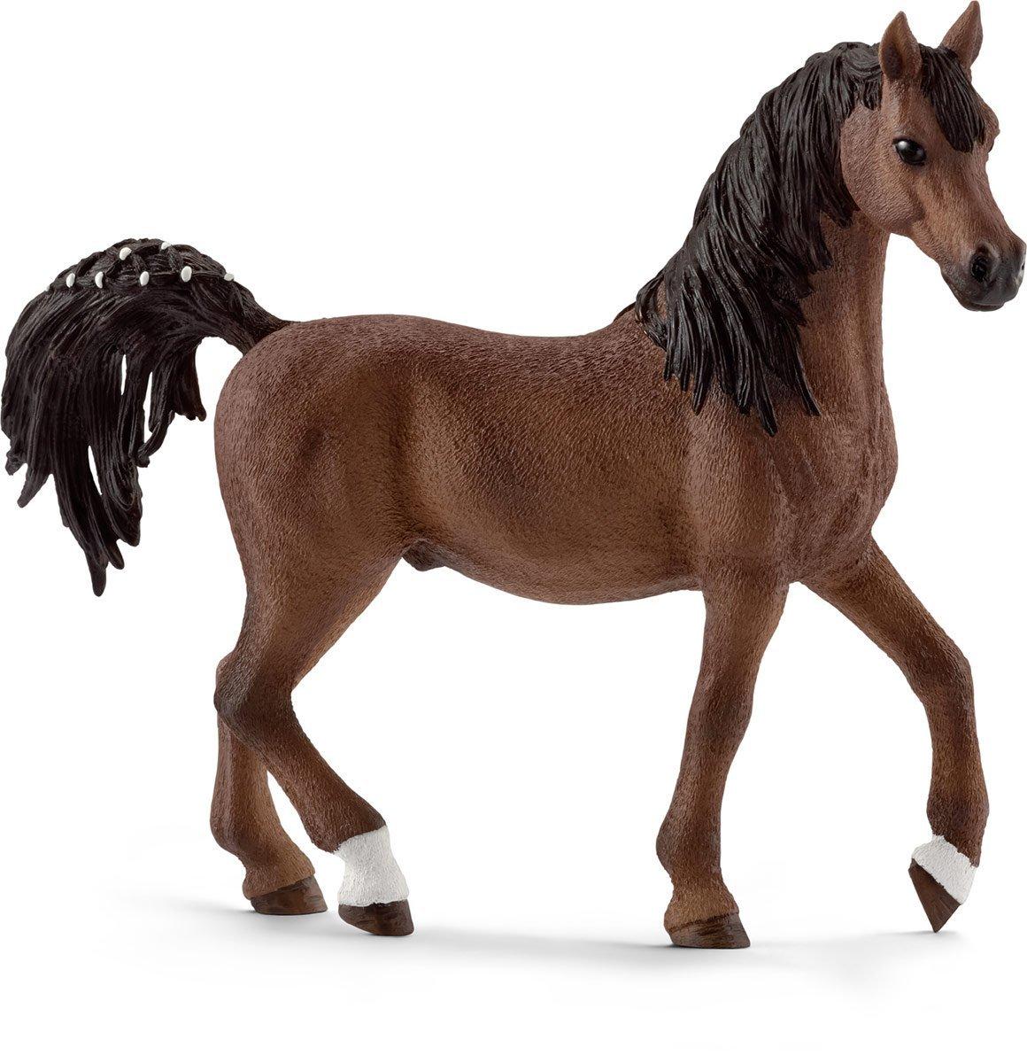 Schleich Фигурка Арабский жеребец13811Очаровательная фигурка Schleich Арабский жеребец обязательно понравится вашему ребенку и дополнит его коллекцию удивительных фигурок Schleich. Многие считают арабских лошадей самой красивой породой лошадей в мире. Их прекрасные высокие хвосты и точеная форма носа особенно поражает воображение. Арабские лошади - самая старая порода лошадей во всем мире. Их разводили еще бедуины. Изначально эта порода появилась в сухих регионах Аравийского полуострова. Элегантные, гладкие и неутомимые, они легко скакали по горячему песку. Сейчас эти прекрасные животные все еще знамениты благодаря своей необычайной выносливости. Арабские лошади также являются самыми быстрыми лошадями в забеге на длинные дистанции. Они, как правило, дружелюбные и надежные. Тем не менее, некоторые считают эту породу лошадей нервными и сложными в обращении - арабские лошади являются невероятно чувствительными созданиями. Прекрасно выполненные фигурки Schleich отличаются высочайшим качеством игрушек ручной...