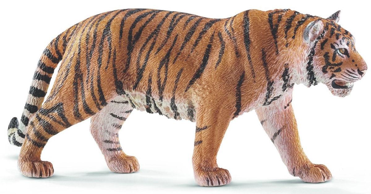 Schleich Фигурка Тигр14729Сибирский тигр - самая крупная кошка в мире, которая достигает в длину около 3-х метров. Черные полосы на теле тигра разнообразны и уникальны. Тигры очень быстрые и при этом незаметные хищники, а также великолепные пловцы. Фигурка Schleich Тигр является отличным обучающим материалом и знакомит детей с представителем животного мира. Раскрашенные вручную с особой внимательностью к каждой детали, фигурки прекрасно сочетаются друг с другом - можно объединять в игре представителей разных серий. В разработке каждой фигурки компания Schleich опирается на исследования в области педагогики, создавая маленькие произведения для маленьких ручек. Изготовление игрушек находится под контролем Берлинского зоопарка, поэтому игрушки так похожи на настоящих животных. Фигурка от немецкой компании Schleich станет достойным дополнением уникальной коллекции миниатюрных фигурок.