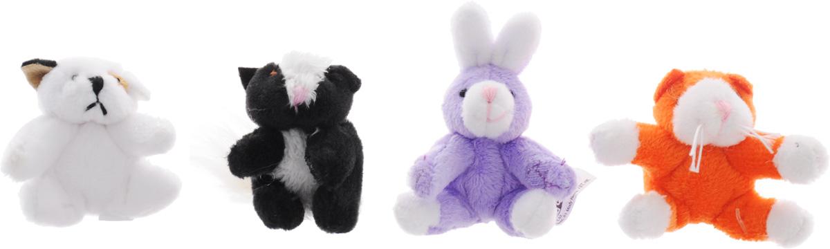 Beanzees Набор мягких игрушек Spotty Smelvin Buttons Kit Kat 5 смB34031Набор, включающий четыре миниатюрные мягкие игрушки в красочной упаковке в виде домика - отличный подарок для вашей девочки. Симпатичные крошечные плюшевые зверюшки Beanzees - это игрушки три в одном. Их приятно держать в руках, увлекательно коллекционировать, а кроме того - их можно соединять между собой с помощью липучек и носить как оригинальное украшение на шею или на руку. По легенде эти крошечные животные обитают все вместе в волшебном лесу под названием Бинзилэнд, в котором всегда ярко светит солнышко и цветут растения. Размер игрушек не превышает 5 см, они выполнены из мягкого гипоаллергенного материала, набивка - синтетическое волокно, в том числе специальные пластиковые гранулы, делающие эти игрушки замечательным антистрессом. На лапках зверюшек располагаются маленькие текстильные липучки, с помощью которых игрушки можно соединять друг с другом. В набор входят песик Spotty, скунс Smelvin, кролик Buttons и котик Kit Kat.