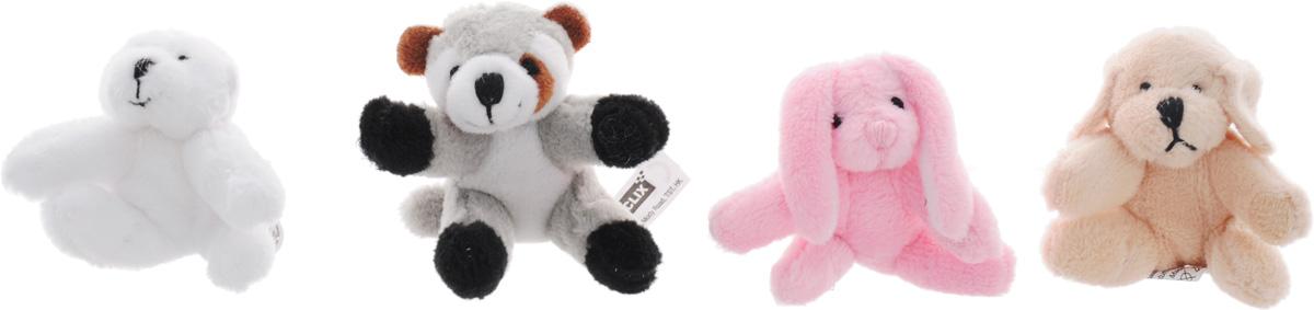 Beanzees Набор мягких игрушек Bingo Roxy Brandy Dexter 5 смB34011Игровой набор, включающий четыре миниатюрные мягкие игрушки в красочной упаковке в виде домика - отличный подарок для девочки. Симпатичные крошечные плюшевые зверюшки Beanzees - это игрушки три в одном. Их приятно держать в руках, увлекательно коллекционировать, а кроме того - их можно соединять между собой с помощью липучек и носить как оригинальное украшение на шею или на руку. По легенде эти крошечные животные обитают все вместе в волшебном лесу под названием Бинзилэнд, в котором всегда ярко светит солнышко и цветут растения. Размер игрушек не превышает 5 см, они выполнены из мягкого гипоаллергенного материала, набивка - синтетическое волокно, в том числе специальные пластиковые гранулы, делающие эти игрушки замечательным антистрессом. На лапках зверюшек располагаются маленькие текстильные липучки, с помощью которых игрушки можно соединять друг с другом. В набор входят белый медведь Bingo, кролик Brandy, енот Roxy и собака Dexter.