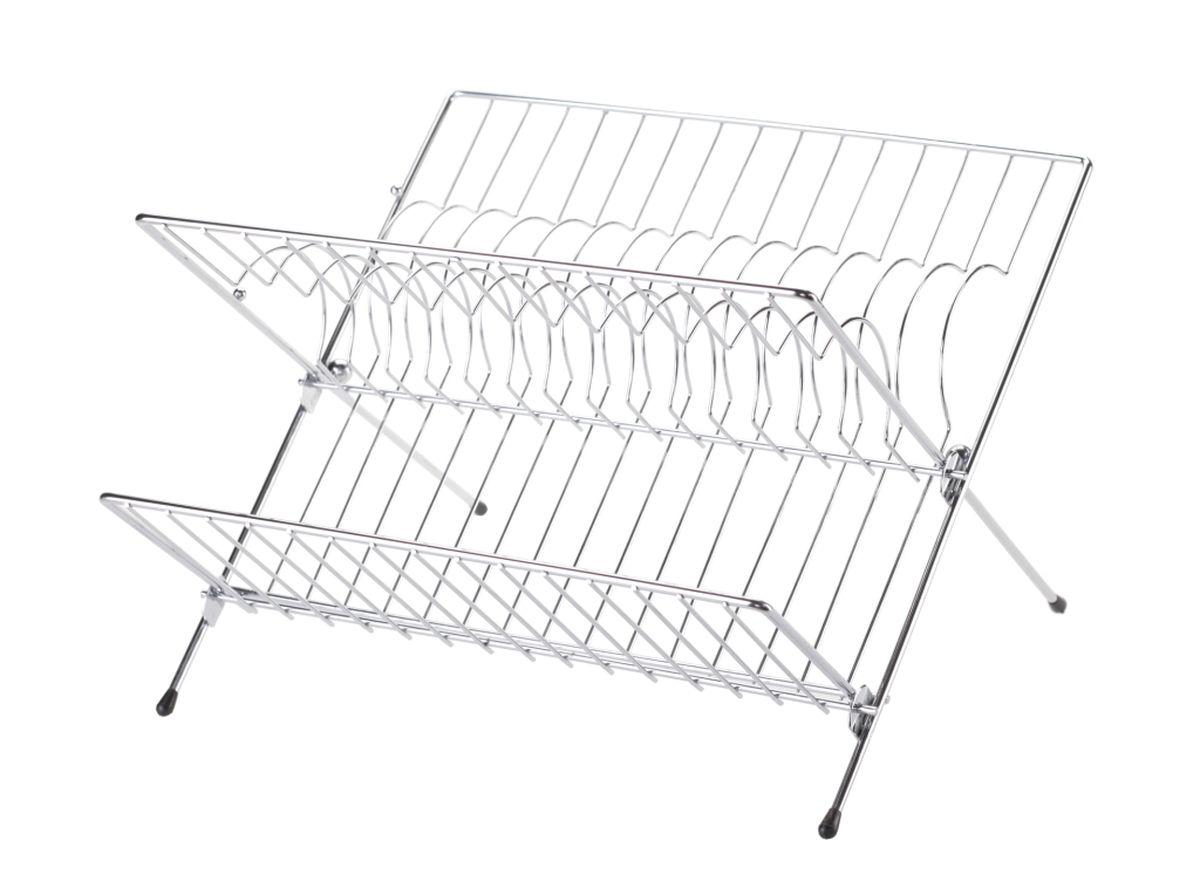 Сушилка для посуды Walmer, двухъярусная, складная, 32 x 26 x 22 смW14312621Двухъярусная сушилка для посуды Walmer выполнена из стали с порошковых покрытием. Ножки оснащены силиконовыми насадками. Сушилку можно установить на крыло мойки, стол или в кухонный шкаф. Она позволяет разместить до 14 тарелок, а откидная полка предназначена для мисок и кружек. Такая сушилка послужит удобным дополнением к основной сушилке. А также поможет сэкономить место на вашей кухне.