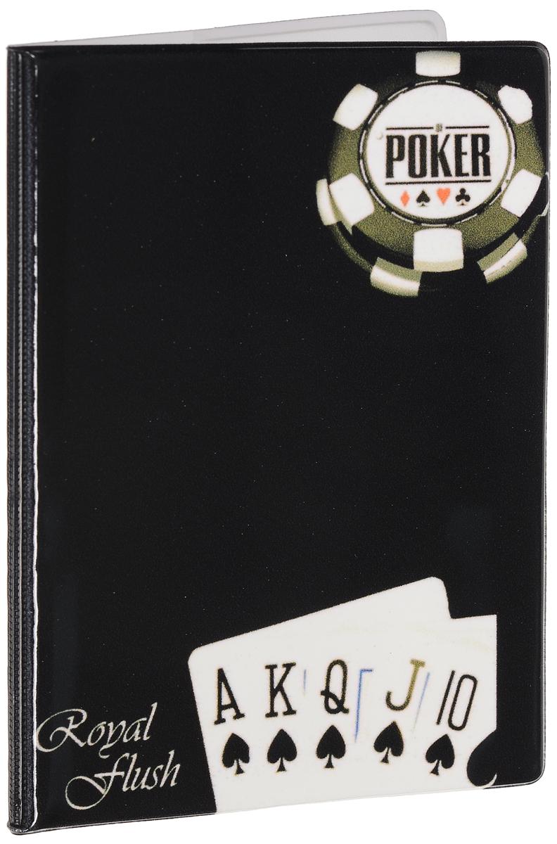 Обложка для паспорта мужская Эврика Покер, цвет: черный. 9250892508Оригинальная обложка для паспорта Эврика понравится вам с первого взгляда. Она изготовлена из качественного ПВХ и оформлена оригинальным принтом. Внутри расположены прозрачные карманы для фиксации паспорта. Такая обложка не только поможет сохранить внешний вид вашего паспорта и защитить его от повреждений, но и станет стильным аксессуаром.