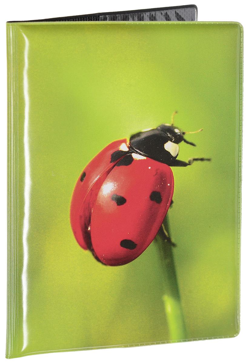 Обложка для паспорта женская Эврика Божья коровка, цвет: зеленый, красный. 9603896038Оригинальная обложка для паспорта Эврика понравится вам с первого взгляда. Она изготовлена из качественного ПВХ и оформлена оригинальным принтом. Внутри расположены прозрачные карманы для фиксации паспорта. Такая обложка не только поможет сохранить внешний вид вашего паспорта и защитить его от повреждений, но и станет стильным аксессуаром.