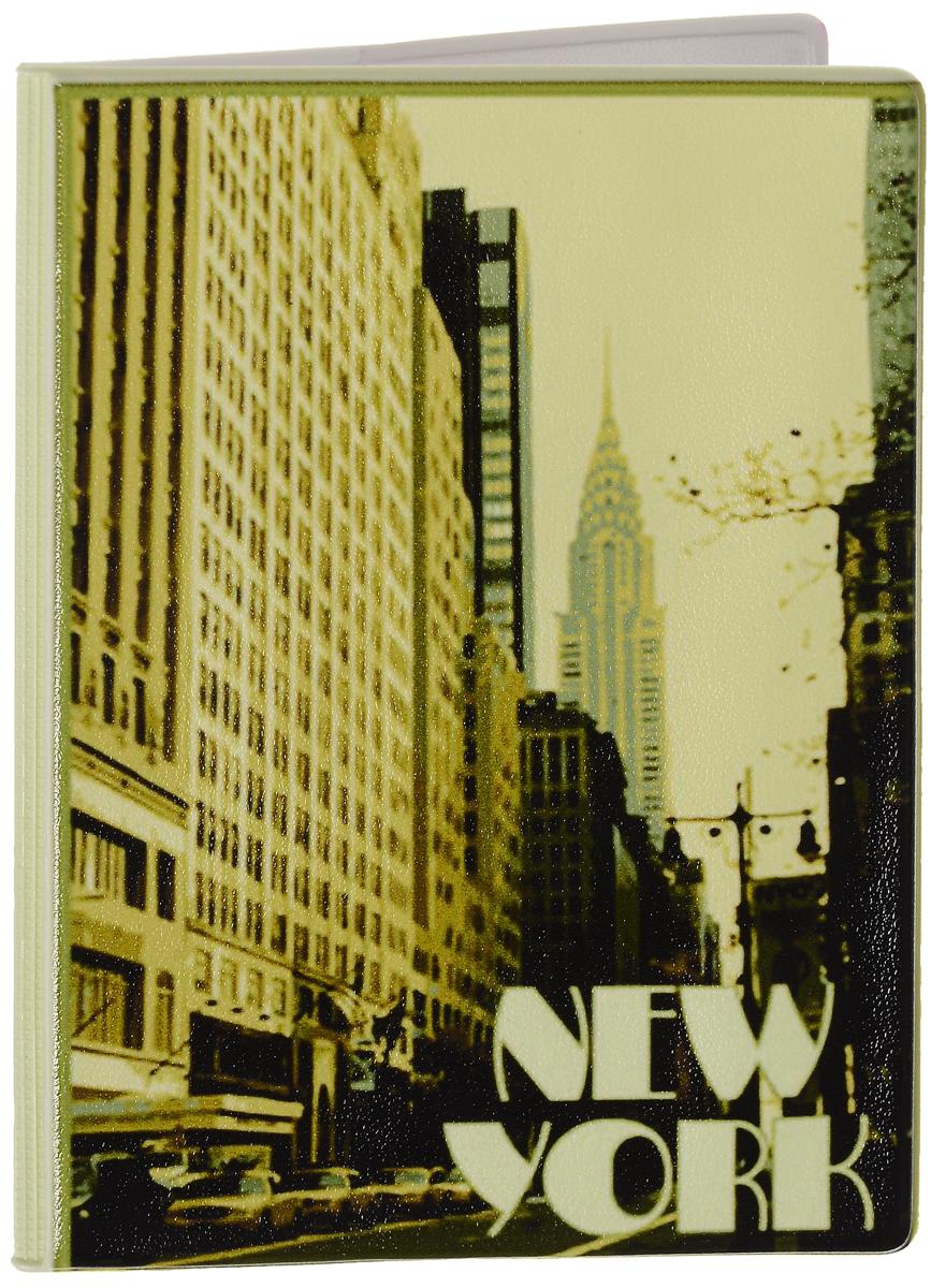 Обложка для паспорта Эврика New York, цвет: песочный, бежевый, черный. 9251992519Оригинальная обложка для паспорта Эврика понравится вам с первого взгляда. Она изготовлена из качественного ПВХ и оформлена оригинальным принтом и надписями. Внутри расположены прозрачные карманы для фиксации паспорта. Такая обложка не только поможет сохранить внешний вид вашего паспорта и защитить его от повреждений, но и станет стильным аксессуаром.