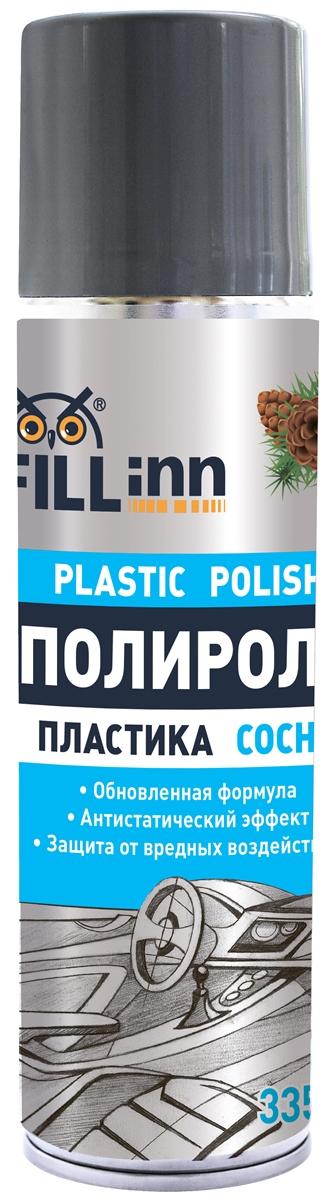 Полироль пластика Fill Inn, аэрозоль, сосна, 335 млFL011Мягко и бережно очищает, придает обновленный вид приборной панели и пластиковым деталям автомобиля. Благодаря наличию смеси натуральных и синтетических восков, восстанавливает глянец пластиковых поверхностей. Создает защитный слой. Предохраняет пластиковые детали от выцветания, царапин и сухости. Обладает антистатическим эффектом, предотвращает оседание пыли на поверхности. Имеет устойчивый приятный аромат. Подходит для использования в быту: для обработки сумок, чемоданов, акриловых и пластиковых покрытий.