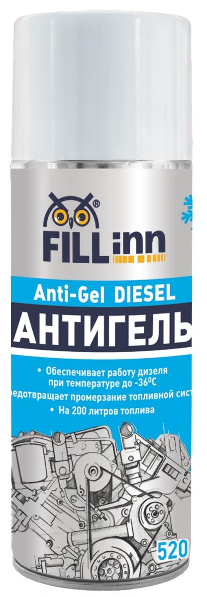 Антигель Fill Inn, 520 млFL090Антигель Fill Inn (депрессорная присадка к топливу) обеспечивает работу дизеля при температуре до -36С на зимнем дизельном топливе. Предотвращает образование и рост парафиновых кристаллов, забивающих фильтры и топливопроводы. Удаляет конденсат воды из топливного бака. Защищает и смазывает прецизионные детали топливного насоса и форсунки, улучшает сгорание топлива. Обеспечивает снижение температуры гелеобразования и предельной температуры фильтруемости летних и зимних дизельных топлив. Предотвращает образование отложений в дизельных двигателях, помогает поддерживать форсунки в чистоте и продлевает их срок службы. Препятствует образованию ржавчины в резервуарах для хранения топлива. Применяется для всех транспортных средств с дизельным двигателем. Присадка специально разработана для удовлетворения потребностей, как частных владельцев дизелей, так и автохозяйств. Присадка обеспечит работу двигателя при температуре воздуха до -26С на летнем топливе и -36С...