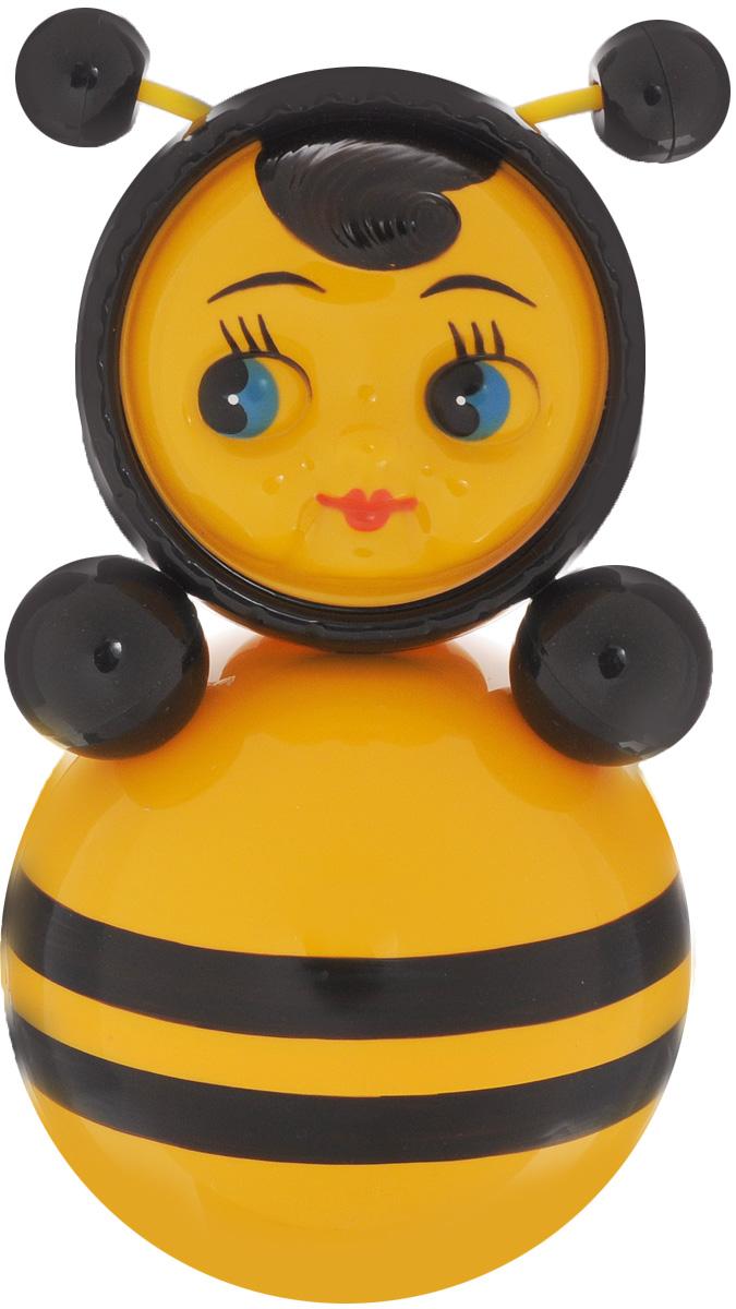 Завидов Неваляшка Пчелка6С-0011Неваляшка Завидов Пчелка - это развивающая игрушка для самых маленьких. Неваляшка выполнена в виде пчелки с черными полосочками. На голове у неваляшки забавные рожки, которые будут покачиваться во время, когда игрушка раскачивается из стороны в сторону. Неваляшка всегда возвращается в вертикальное положение, забавно покачиваясь под приятный звук бубенчиков и развлекая малыша. Игрушка развивает мелкую моторику, координацию, слух и цветовое восприятие.