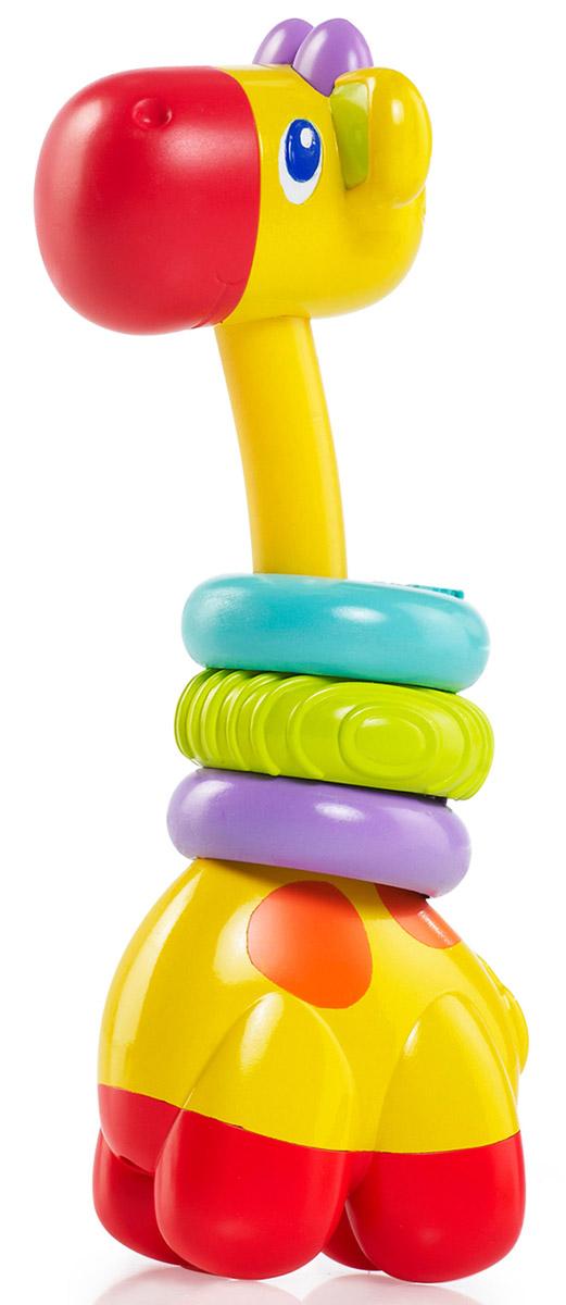 Bright Starts Прорезыватель Веселый жираф10222Прорезыватель Bright Starts Веселый жираф поможет малышу снизить неприятные ощущения во время роста зубов. Прорезыватель выполнен в виде красочного симпатичного жирафа с забавной мордочкой и длинной шей, на которую нанизаны разноцветные колечки. Их структурная основа и мягкая поверхность идеальны для детских десен. Игрушку удобно хватать маленькими ручками, яркие цвета и приятная на ощупь фактура помогут развить тактильные ощущения и цветовосприятие.