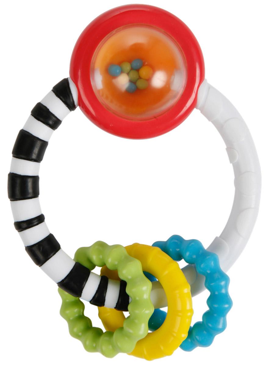 Bright Starts Прорезыватель-погремушка Колечко10223Прорезыватель-погремушка Bright Starts Колечко станет отличным помощником малышу в период, когда у него начнут резаться зубки. Модель предназначена для детей в возрасте от трех месяцев до одного года. Большое разнообразие текстур для зубок малыша позволит использовать модель совершенно всем детям, ведь размер ротовой полости бывает разным. Удобная форма прорезывателя позволяет малышу с невероятным удобством держать его в руках, избегая падений, и, следственно, загрязнений игрушки. Контрастные, яркие цвета привлекут внимание любого малыша. Модель также является и погремушкой, которая поднимет настроение ребенку. С такой игрушкой процесс роста зубов станет не только простым и приятным, но еще и интересным.