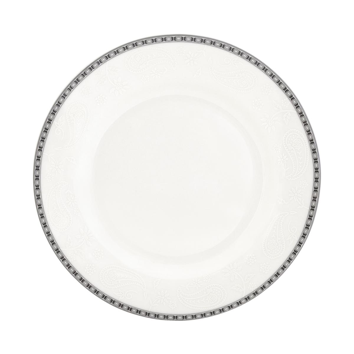 Набор суповых тарелок Esprado Arista White, диаметр 23 см, 6 шт. ARW023WE301ARW023WE301Набор Esprado Arista White состоит из шести суповых тарелок, декорированных изысканной каймой с орнаментом и тиснением с принтом пейсли. Посуда выполнена из костяного фарфора, основные составляющие которого костная зола и каолин. От содержания костной золы зависит белизна и прозрачность фарфора. В материале, который используется для создания посуды Esprado, его содержание от 48 до 50%. Родина костной золы, из которой производится посуда Esprado, Великобритания, славящаяся сырьем высокого качества. Каолин, белая глина на основе природного минерала, поступает из Новой Зеландии, одного из наиболее экологически чистых регионов мира. Такое сочетание обеспечивает высокое качество материала и безупречный оттенок слоновой кости. Экологическая глазурь из Японии, высоко ценящаяся во всем мире, которой покрывается готовое изделие, позволяет добиться идеально ровного цвета и кристального блеска. В костяном фарфоре отсутствуют примеси кадмия и свинца, а...