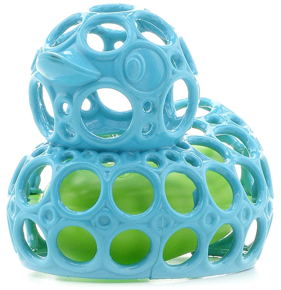 Oball Игрушка для ванной Уточка цвет голубой81553-3Игрушка для ванной Oball Уточка понравится вашему ребенку и развлечет его во время купания. Она выполнена из мягкого и гибкого пластика в виде забавной утки. Благодаря внутреннему поплавку, уточка не тонет. Вода легко выливается через отверстия. Размер игрушки идеален для маленьких ручек малыша. Игрушка способствует развитию воображения, цветового восприятия, тактильных ощущений и мелкой моторики рук.