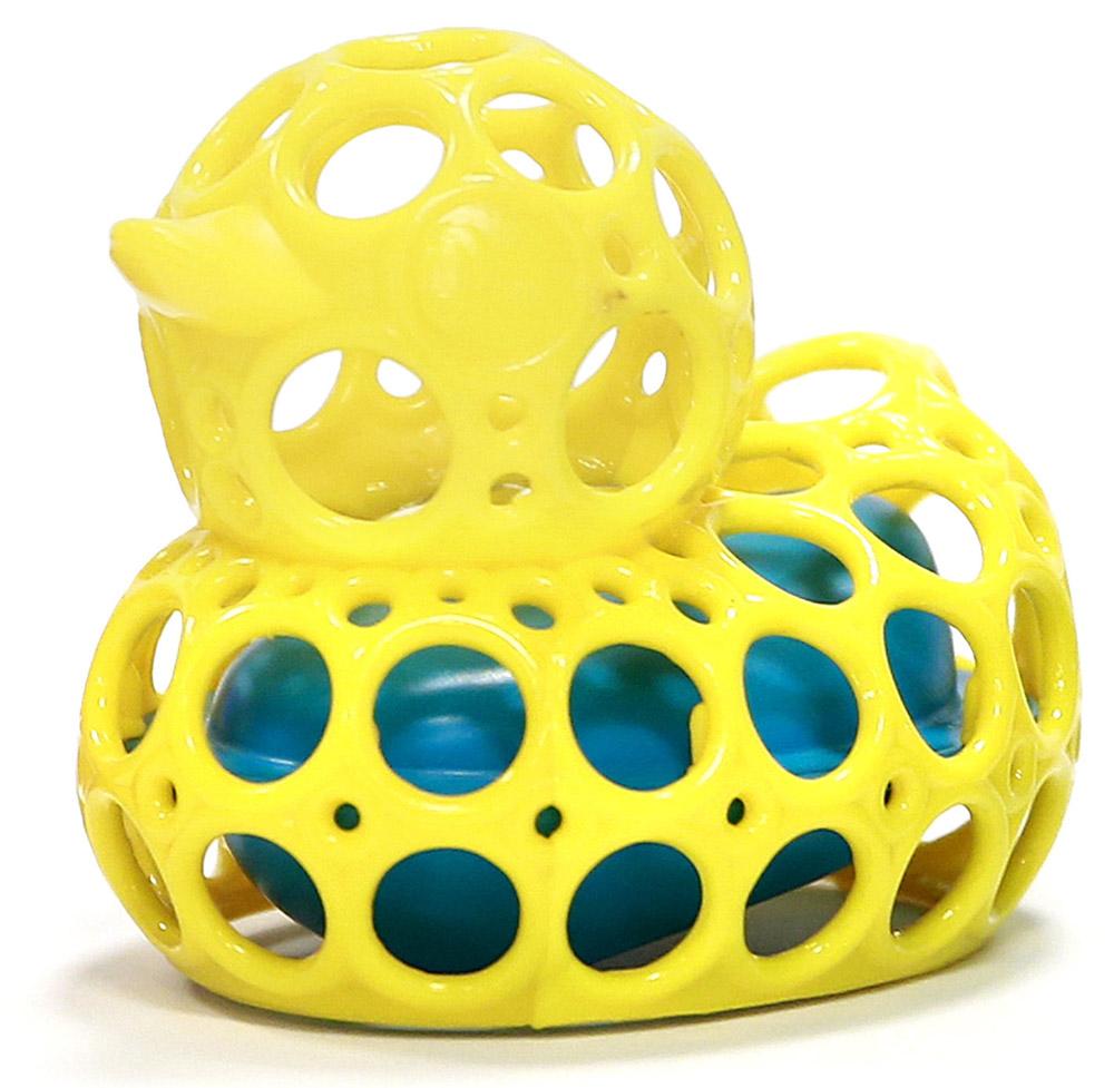 Oball Игрушка для ванной Уточка цвет желтый81553-2Игрушка для ванной Oball Уточка понравится вашему ребенку и развлечет его во время купания. Она выполнена из мягкого и гибкого пластика в виде забавной утки. Благодаря внутреннему поплавку, уточка не тонет. Вода легко выливается через отверстия. Размер игрушки идеален для маленьких ручек малыша. Игрушка способствует развитию воображения, цветового восприятия, тактильных ощущений и мелкой моторики рук.