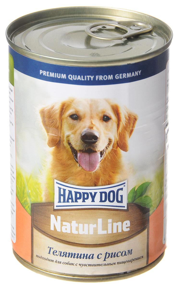 """Консервы для собак Happy Dog """"Natur line"""", с телятиной и рисом, 400 г 71465"""