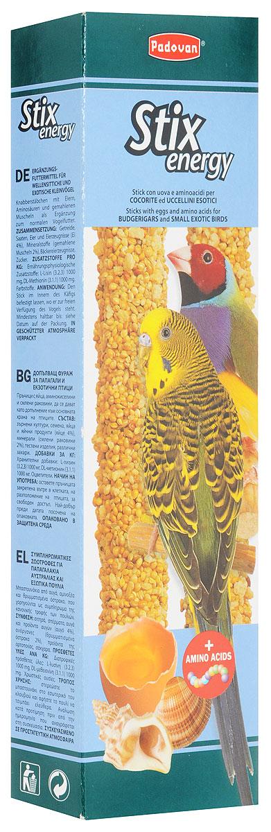Лакомство Padovan Энерджи, для волнистых попугаев и экзотических птиц, 80 г16803Лакомство Padovan Энерджи предназначено для волнистых попугаев и экзотических птиц. Пригодно для питания и других птиц. Палочки спрессованы из тщательно подобранной смеси семян и полезных пищевых добавок - особенно, минералов. Они снабжены приспособлением для удобного крепления лакомства внутри клетки. Товар сертифицирован.