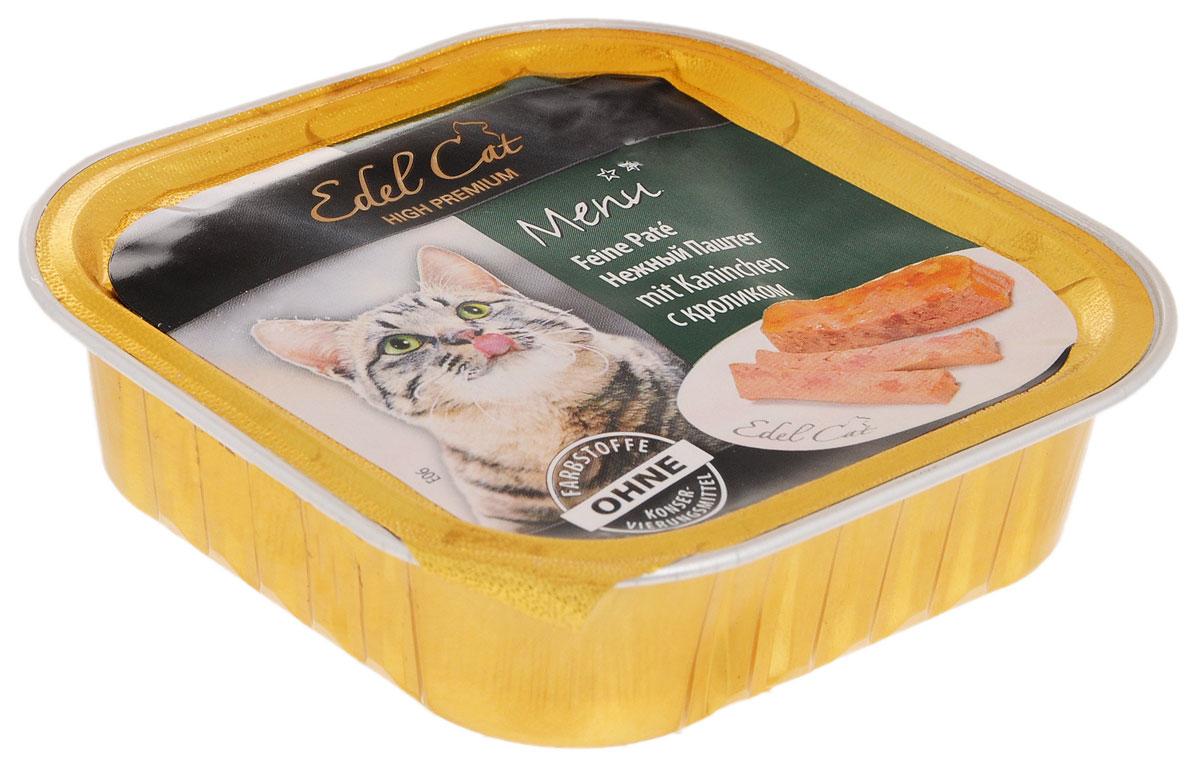 Консервы для кошек Edel Cat, паштет с кроликом, 100 г17402Нежный паштет Edel Cat с кроликом - полнорационный консервированный сбалансированный корм премиум класса для котят и взрослых кошек. Этот натуральный без добавления красителей и усилителей вкуса корм доставит истинное удовольствие вашему питомцу. Паштет содержит полный комплекс витаминов, минералов и микроэлементов, оказывающих благотворное воздействие на организм ваших домашних питомцев. Товар сертифицирован.