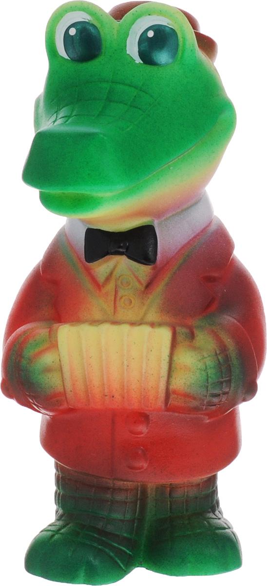 Огонек Игрушка для ванной Крокодил гармонистС-1182Игрушка для ванной Огонек Крокодил гармонист понравится вашему ребенку и развлечет его во время купания. Она выполнена из безопасного материала в виде Крокодила Гены. Если сжать ее во время купания в ванне, игрушка начинает брызгаться водой. Игрушка для ванной способствует развитию воображения, цветового восприятия, тактильных ощущений и мелкой моторики рук.