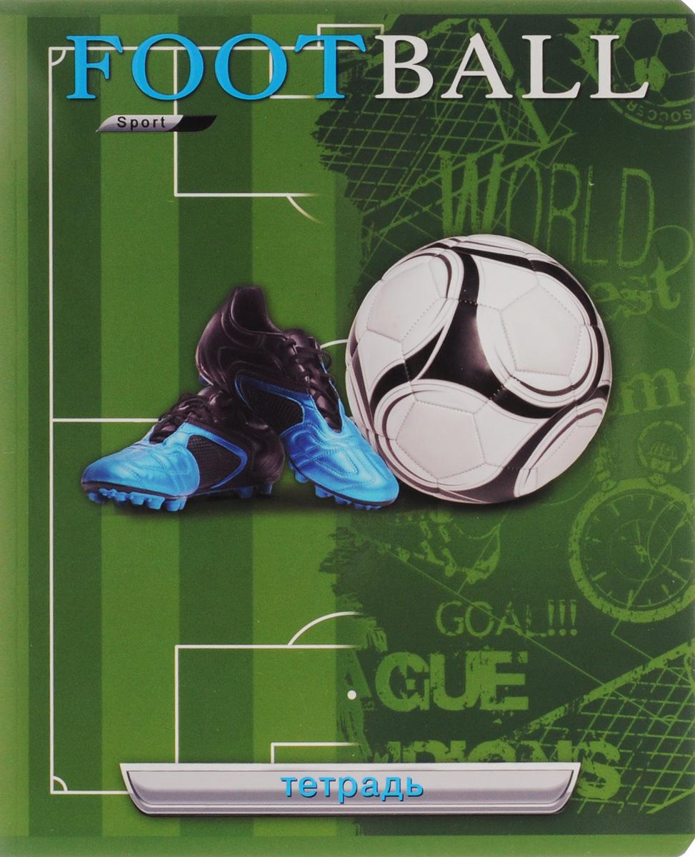 Феникс+ Тетрадь Бутсы и мяч 48 листов в клетку цвет синий 34141_кроссовки и мяч