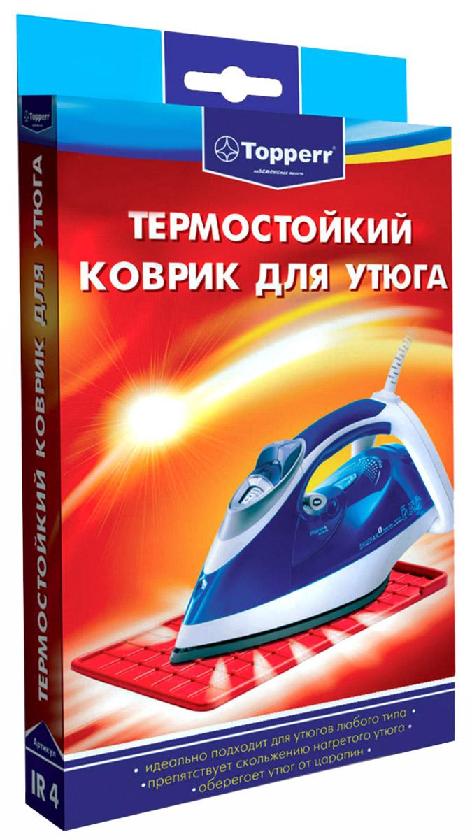 Topperr 1305 IR4, Red коврик для утюга термостойкий