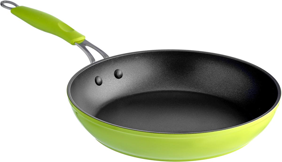 Сковорода Esprado Ritade, с антипригарным покрытием, цвет: зеленый. Диаметр 22 смRI4T22GE103Сковорода Esprado Ritade изготовлена из кованого алюминия с внутренним антипригарным покрытием Whitford Xylan Plus. С таким покрытием пища не пригорает и не прилипает к стенкам. Готовить можно с минимальным количеством подсолнечного масла. Сковорода оснащена удобной ручкой с силиконовой вставкой. Такая ручка не нагревается в процессе готовки и обеспечивает надежный хват. Подходит для всех видов плит, включая индукционные. Можно мыть в посудомоечной машине. Диаметр сковороды: 22 см. Высота стенки: 4,8 см.