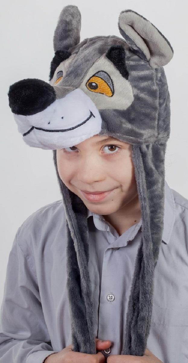 Карнавалия Карнавальный аксессуар для мальчика Волчонок цвет серый размер 54 9000690006
