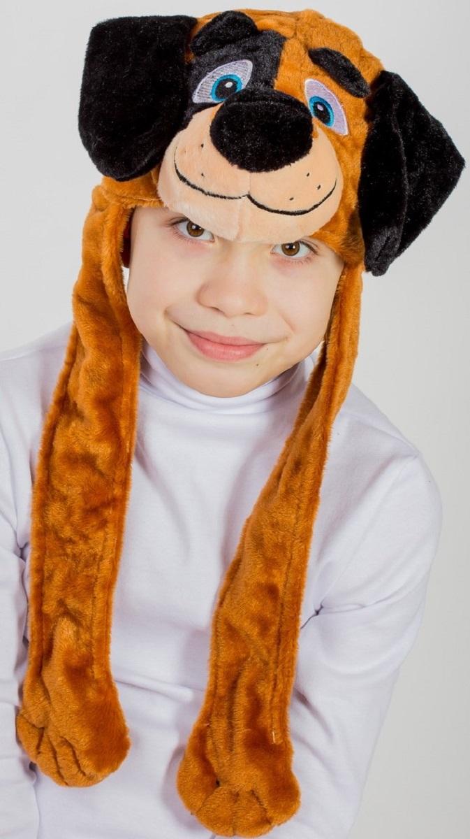 Карнавалия Карнавальный аксессуар для мальчика Песик цвет коричневый размер 54 9004190041