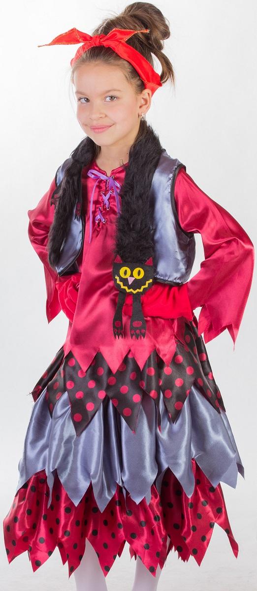 Карнавалия Карнавальный костюм для девочки Баба Яга цвет бордовый серый черный размер 12285161