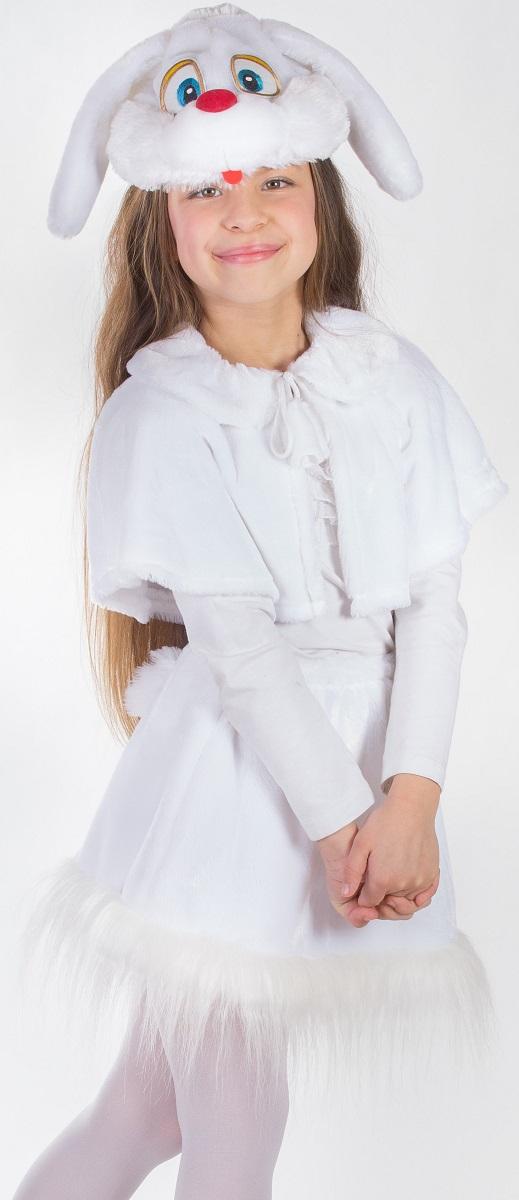 Карнавалия Карнавальный костюм для девочки Зайка цвет белый размер 12289015