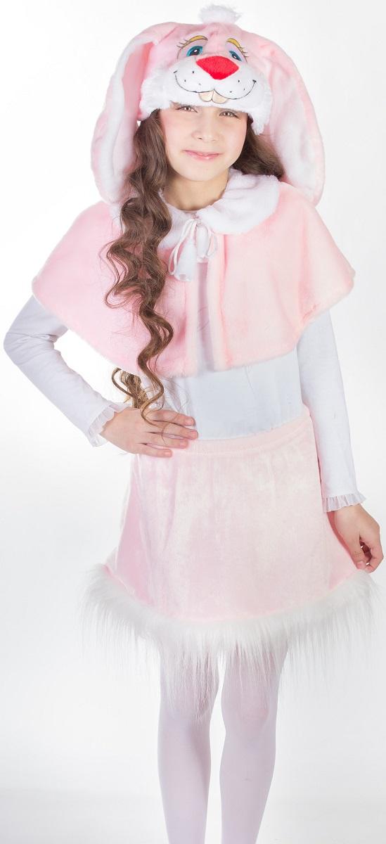 Карнавалия Карнавальный костюм для девочки Зайка цвет розовый рост 12288015