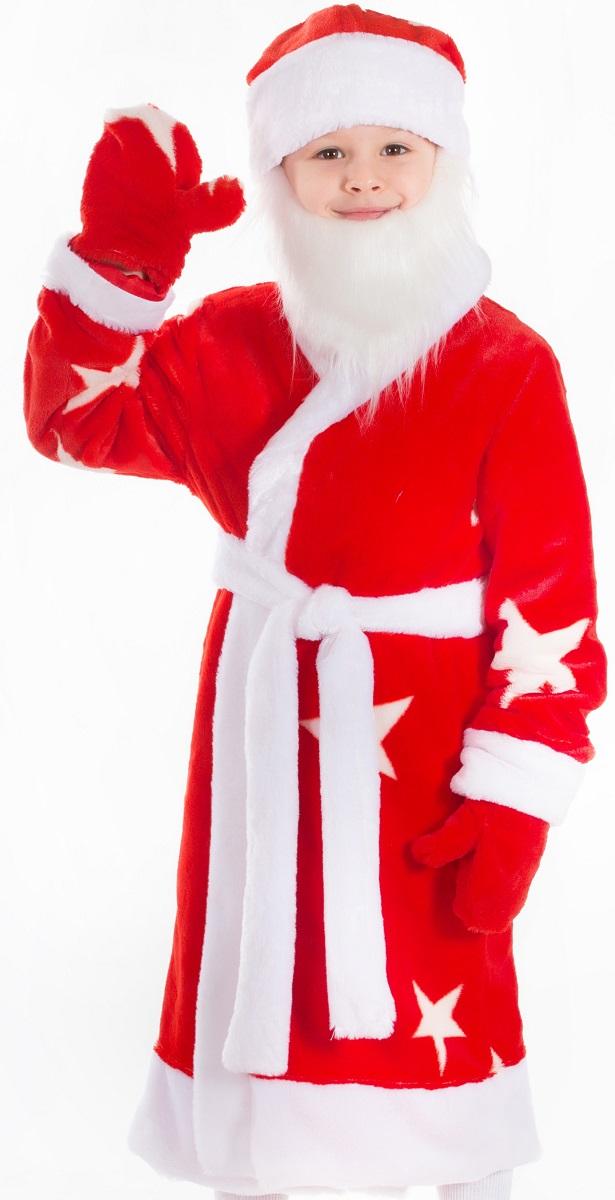 Карнавалия Карнавальный костюм для мальчика Дед Мороз цвет красный белый размер 12289010