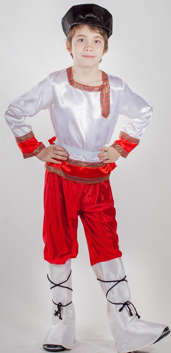 Карнавалия Карнавальный костюм для мальчика Иванушка размер 12285111Яркий детский карнавальный костюм Карнавалия Иванушка позволит вашему ребенку быть самым интересным героем на детском утреннике, бале-маскараде или карнавале. В комплект входят рубашка, пояс, штаны, кепка, гамаши. Штаны на резинке. Рост ребенка: 122 см. Материал: 100% полиэстер. В этом костюме мальчик почувствует себя настоящим сказочным героем. Костюм привлечет внимание друзей вашего ребенка и подчеркнет его индивидуальность. Веселое настроение и масса положительных эмоций будут обеспечены!