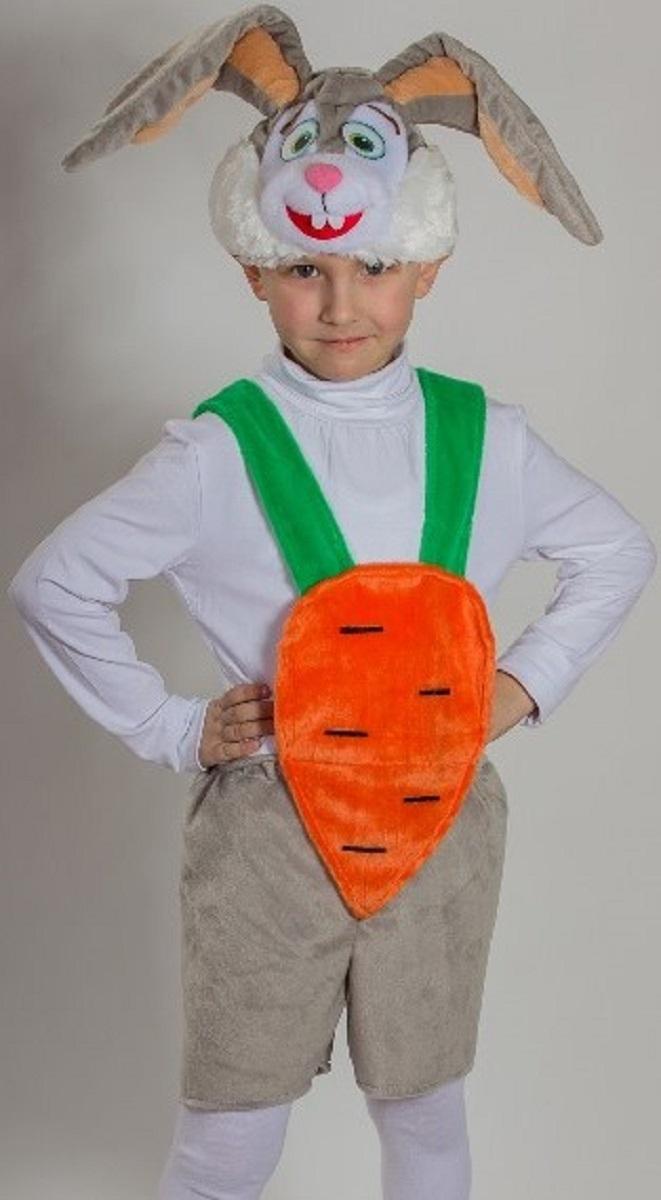 Карнавалия Карнавальный костюм для мальчика Кролик цвет серый размер 3289076