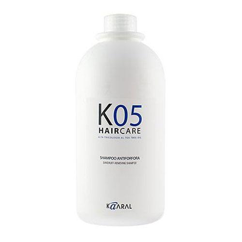 Kaaral Шампунь против перхоти К05 Shampoo Antiforfora, 1000 мл1059Увлажняющее и успокаивающее действие шампуня обеспечивает качественное очищение сухой кожи головы. Предотвращает шелушение и воспаление кожного покрова, а также появление перхоти.