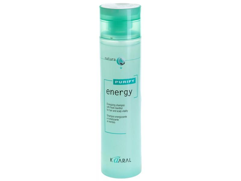 Kaaral Интенсивный энергетический шампунь с ментолом Purify Energy Shampoo, 250 мл1209Тонизирующий шампунь с экстрактом мяты и ментола. Нейтральный уровень РН допускает ежедневное применение. Обладает благоприятным тонизирующим действием вечером, и бодрящим эффектом утром. Идеален для мужчин.