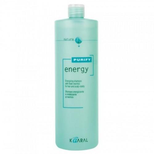 Kaaral Интенсивный энергетический шампунь с ментолом Purify Energy Shampoo, 1000 мл1210Тонизирующий шампунь с экстрактом мяты и ментола. Нейтральный уровень РН допускает ежедневное применение. Обладает благоприятным тонизирующим действием вечером, и бодрящим эффектом утром. Идеален для мужчин.