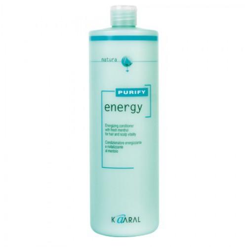 Kaaral Ментоловый энергетический кондиционер Purify Energy Conditioner, 1000 мл1212Энергетический кондиционер для волос и кожи головы на основе масла перечной мяты и ментола. Благодаря содержанию ментола и эффективныx тонизирующих компонентов, стимулирует микроциркуляцию крови кожи волосистой части головы, что обеспечивает хорошее питание волосяных луковиц и способствует росту волос. Обладает благоприятным тонизирующим действием вечером, и бодрящим эффектом утром во время мытья головы. Кондиционирует натуральные волосы, облегчая расчесывание. Усиливает натуральный естественный блеск волос. Не утяжеляет волосы.