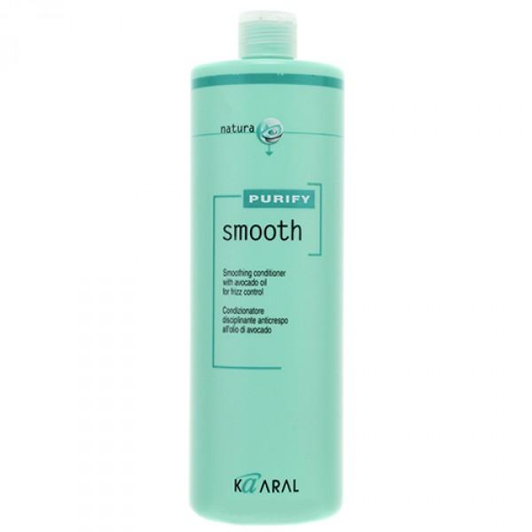 Kaaral Кондиционер для вьющихся волос Purify Smooth Conditioner, 1000 мл1220Cпециальный SPA – кондиционер для ухода за вьющимися непослушными волосами направленного действия. Мощный увлажняющий комплекс на основе экстракта масла авокадо, богатого витаминами А, E и полиненасыщенными жирными кислотами (омега-3 и омега-6), питает и укрепляет волосы. Обволакивает и выглаживает кутикулу, делая волосы блестящими и послушными. Надежно защищает волосы от пересыхания. Наличие летучей формы эфирного оливкового масла способствует качественному кондиционированию и защите кутикулы волос без утяжеления. Облегчает процесс укладки волос.