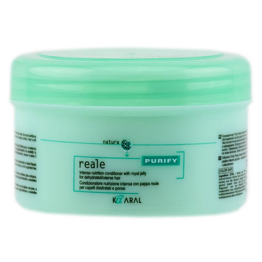 Kaaral Интенсивный восстанавливающий Реале кондиционер для поврежденных волос Purify Reale Intense Conditioner, 250 мл1236Кондиционер Purify Reale Intense Nutrition Conditioner специально разработан для густых, жёстких и обезвоженных волос. В его обогащённый состав входит маточное молочко - самое питательное вещество, которое вырабатывается пчелиными матками. Чистое маточное молочко является натуральным компонентом, который проникает в волосы, глубоко питая их олигоминералами и керамидами. В результате волосы становятся ухоженными, увлажнёнными и подпитанными. Не влияет на естественный объём волос.