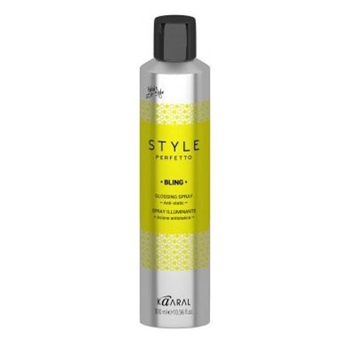 Kaaral Спрей-защита от курчавости и для придания блеска Style Perfetto Bling Glossing Spray, 300 млK15934Спрей предназначен для защиты волос от курчавости и для придания им блеска. Спрей рекомендуется для ухода за сухими, ослабленными или окрашенными волосами. Средство эффективно увеличивает блеск волос, не утяжеляет. Спрей защита от курчавости и для придания блеска. Защитный спрей для сухих, ослабленных или окрашенных волос. Увеличивает блеск волос. Идеален для всех типов волос. Не утяжеляет волосы.
