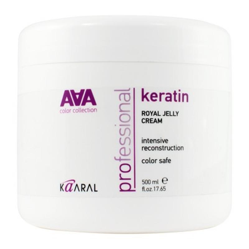 Kaaral Питательная крем-маска для восстановления окрашенных и химически обработанных волос AAA Keratin Royal Jelly Cream, 500 мл